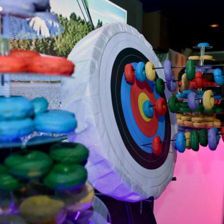 Archery themed donut station